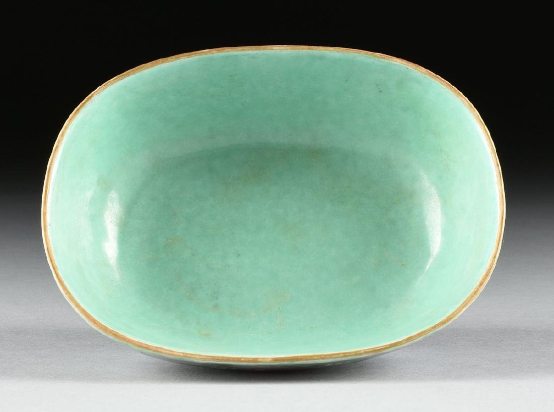 A CHINESE EXPORT PORCELAIN OVAL FOOTED BOWL, REPUBLIC - 8