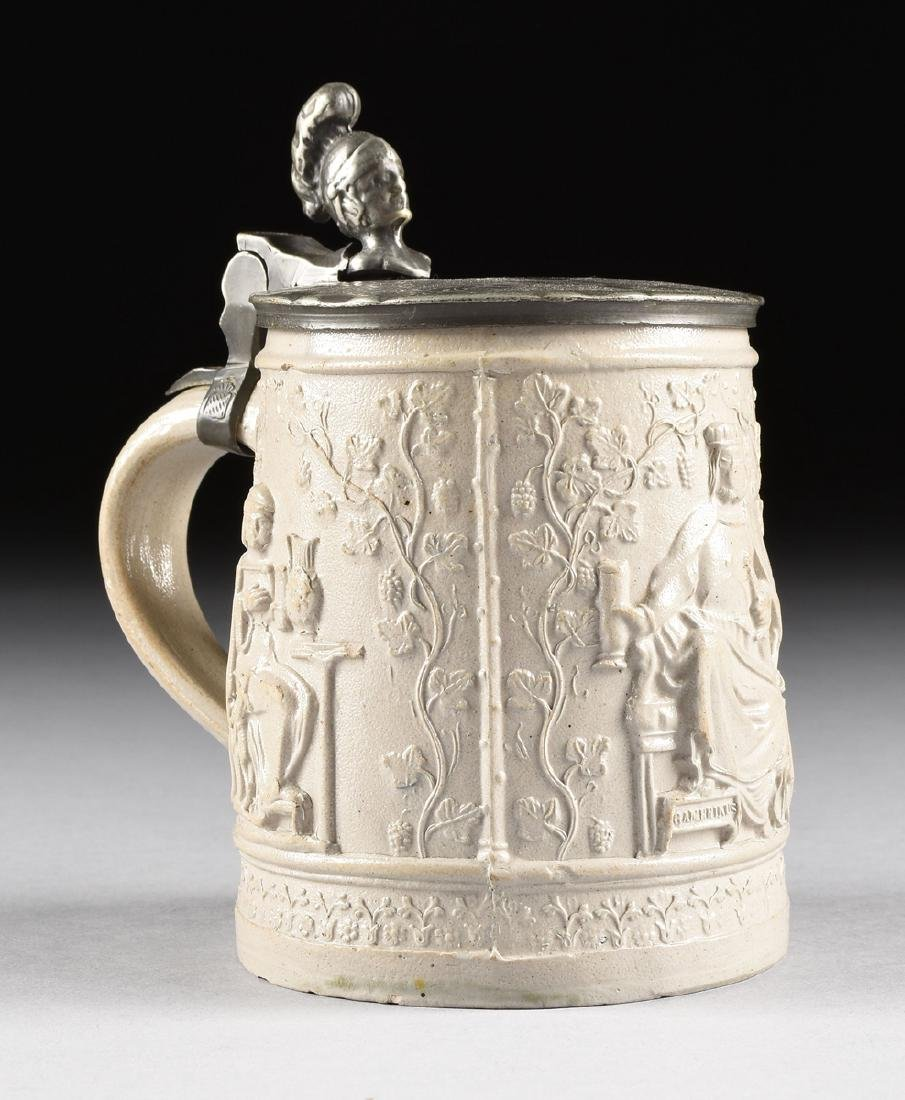 A GROUP OF EIGHT MUGS AND TANKARDS, - 7