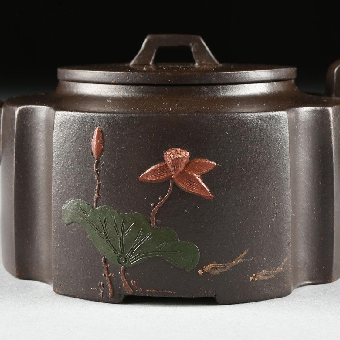 A CHINESE RED STONEWARE TEAPOT, YIXING PROVINCE, - 2