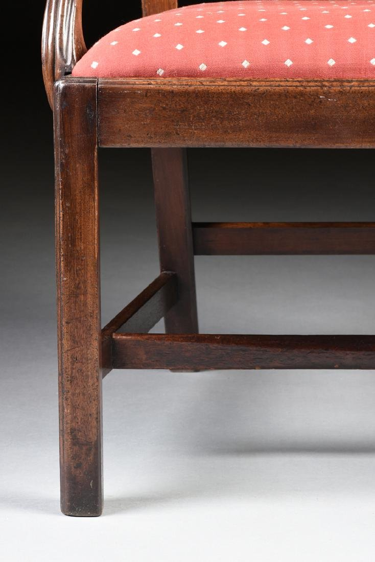 A COLONIAL MAHOGANY CHIPPENDALE ARM CHAIR, PROBABLY - 3