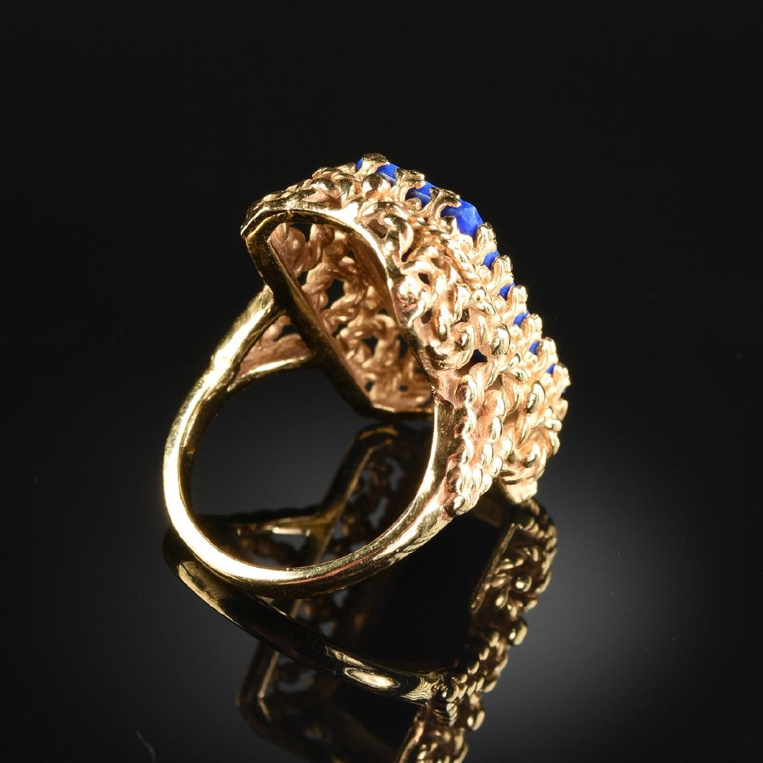 A LOT OF FOUR 14K LADY'S RINGS, - 5