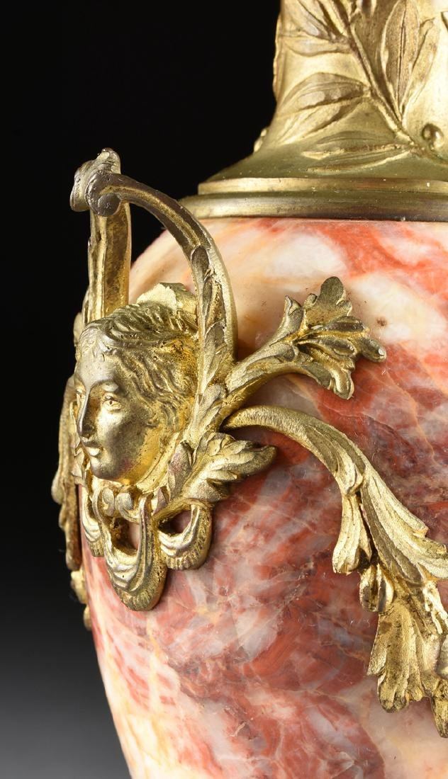 A PAIR OF LOUIS XVI STYLE GILT BRONZE MOUNTED ROUGE - 10