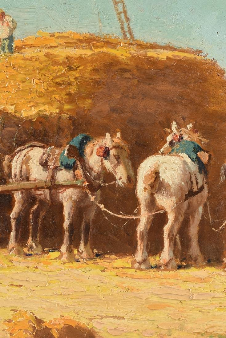 """CHARLES CLAIR (French 1860-1930) A PAINTING, """"Loading - 6"""