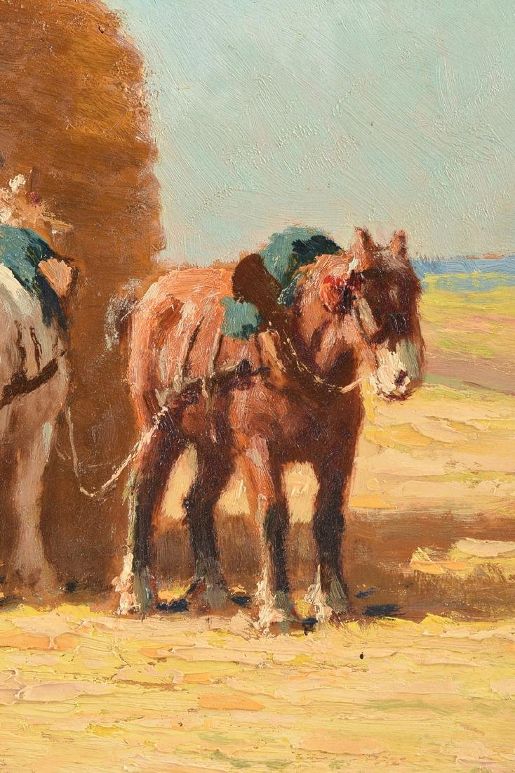 """CHARLES CLAIR (French 1860-1930) A PAINTING, """"Loading - 7"""