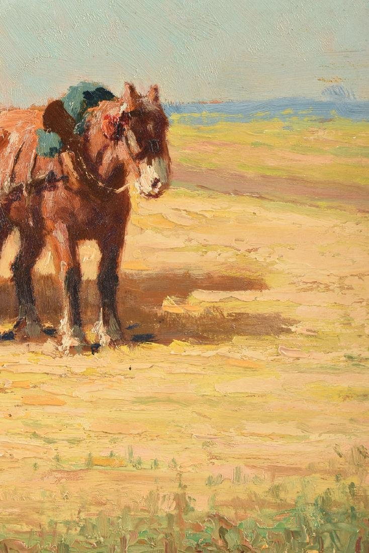 """CHARLES CLAIR (French 1860-1930) A PAINTING, """"Loading - 9"""