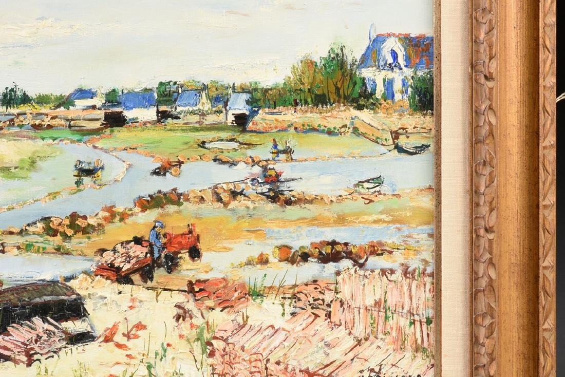 """YOLANDE ARDISSONE (French b. 1927) A PAINTING, """"Bassins - 4"""
