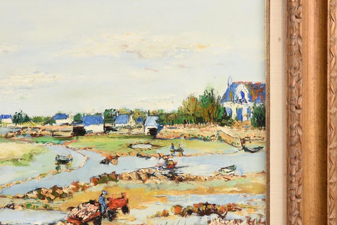 """YOLANDE ARDISSONE (French b. 1927) A PAINTING, """"Bassins - 7"""