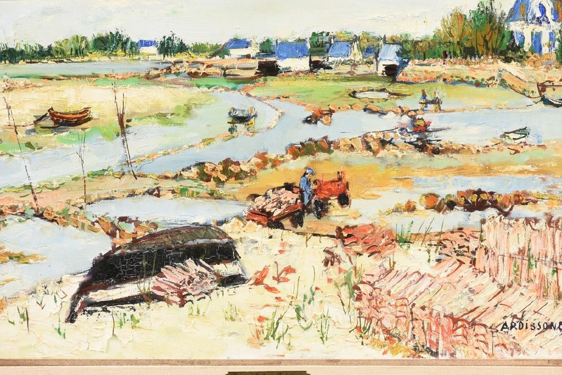 """YOLANDE ARDISSONE (French b. 1927) A PAINTING, """"Bassins - 8"""