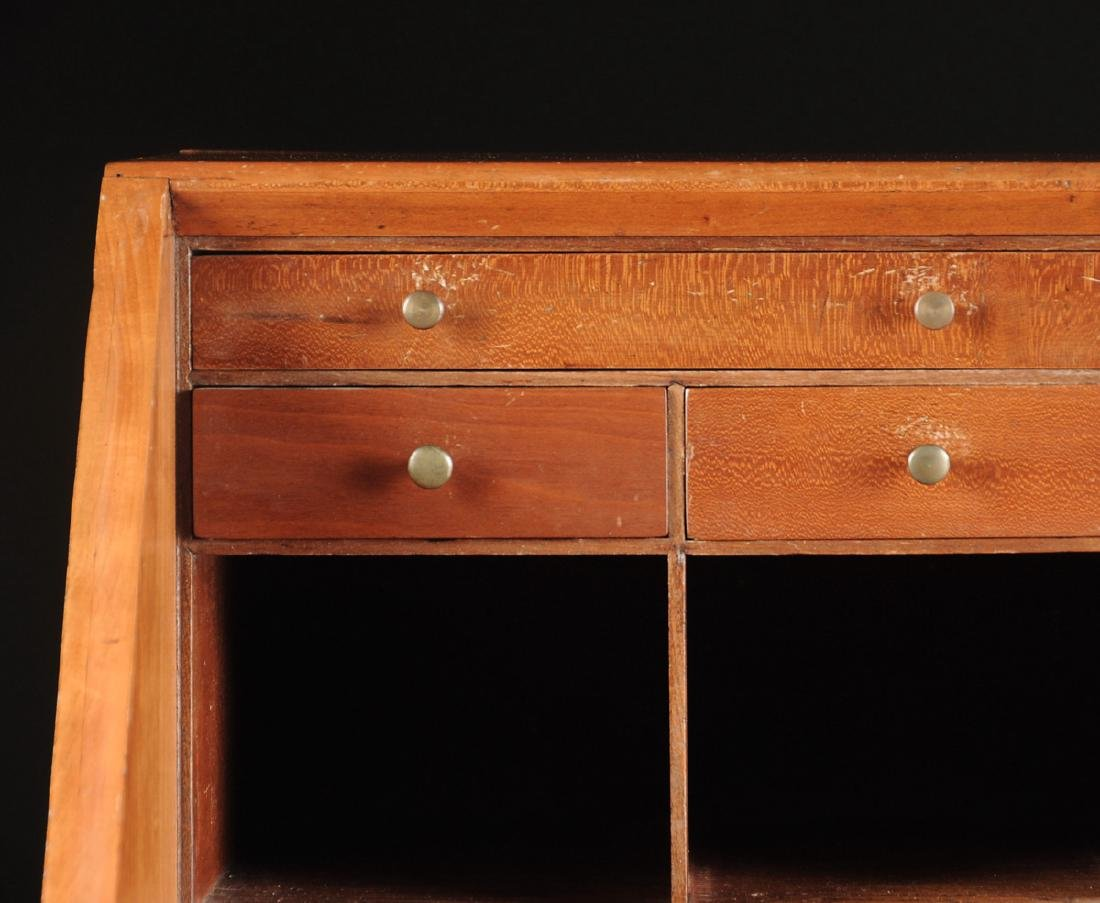 A CHIPPENDALE CARVED CHERRYWOOD SLANT-FRONT BUREAU, NEW - 10