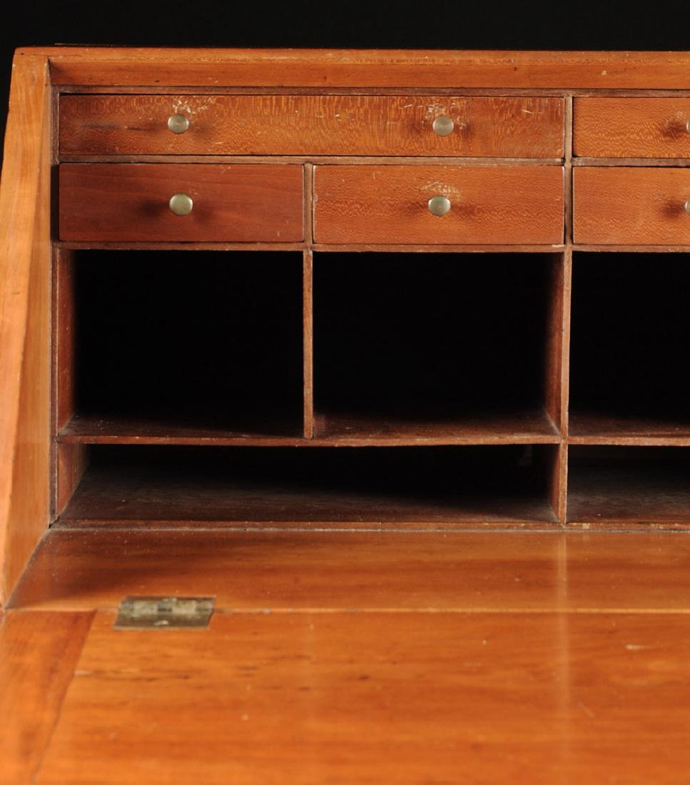 A CHIPPENDALE CARVED CHERRYWOOD SLANT-FRONT BUREAU, NEW - 9