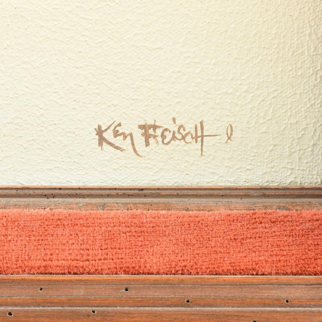 KEN FLEISCH (American/Texas 1943-2008) A PAINTING, - 3