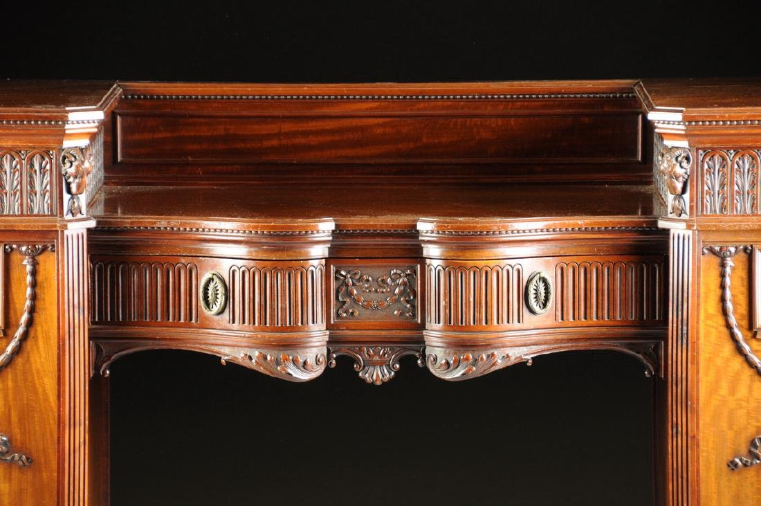 A FINE REGENCY STYLE CARVED MAHOGANY TWO PEDESTAL - 3
