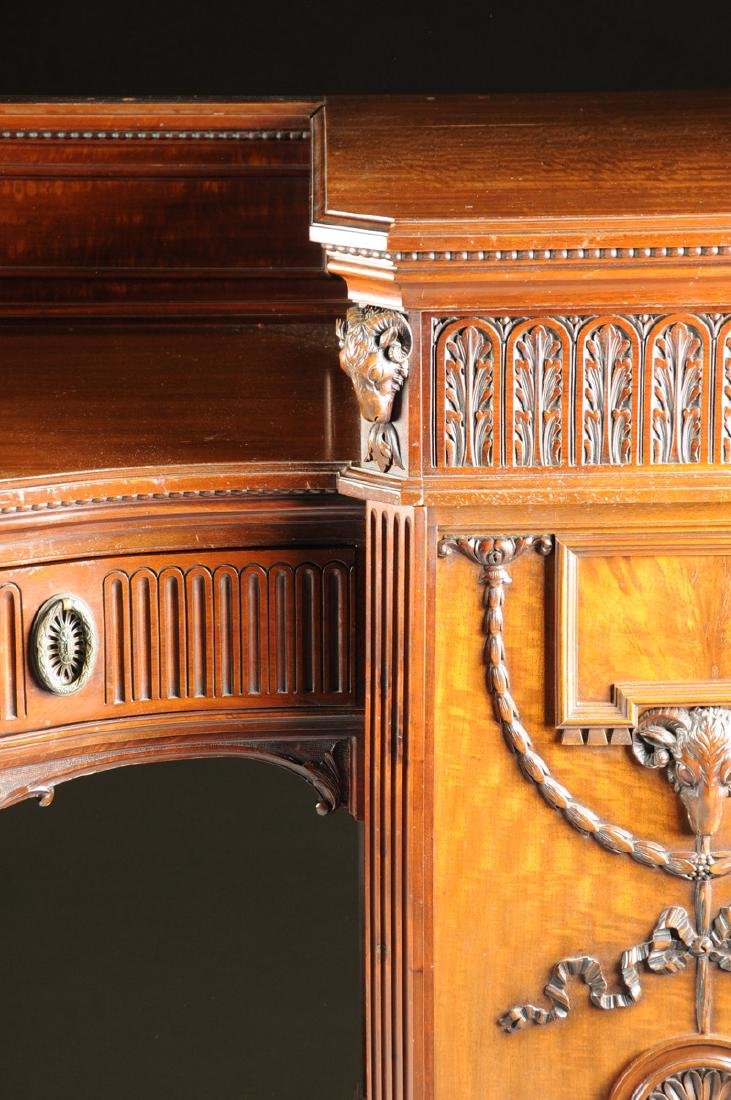 A FINE REGENCY STYLE CARVED MAHOGANY TWO PEDESTAL - 5