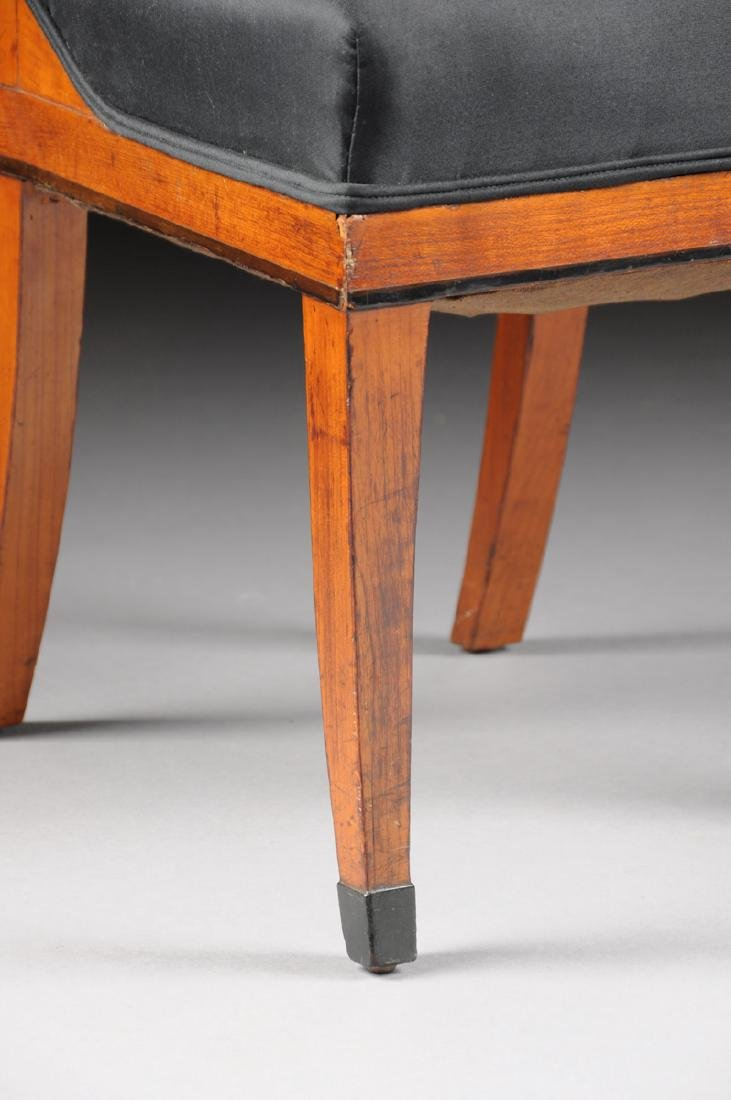 A PAIR OF BIEDERMEIER CARVED AND EBONIZED FRUITWOOD - 3