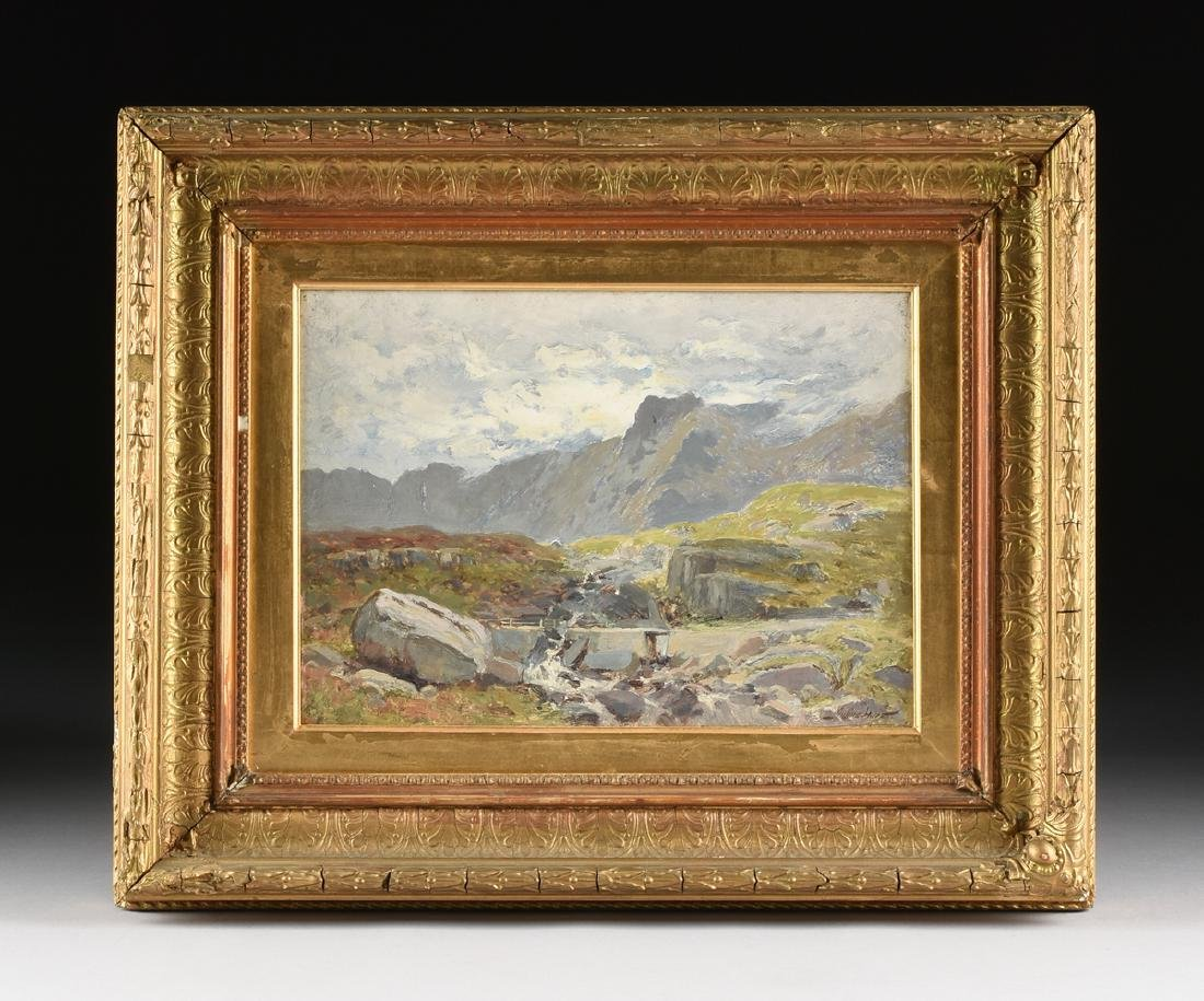 "JULIUS HINES ( ) A PAINTING ""Rocky Landscape,"" - 2"