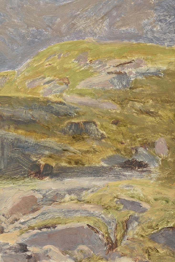 "JULIUS HINES ( ) A PAINTING ""Rocky Landscape,"" - 5"