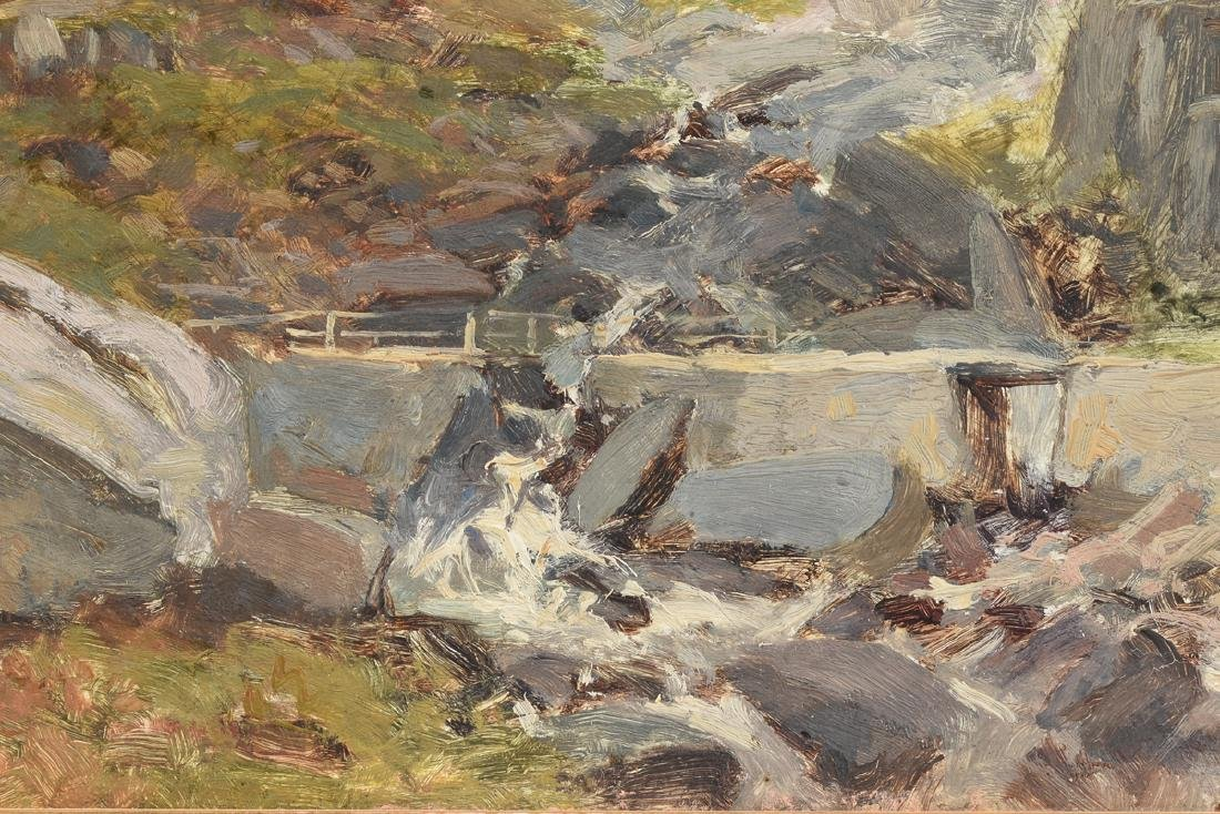 "JULIUS HINES ( ) A PAINTING ""Rocky Landscape,"" - 6"