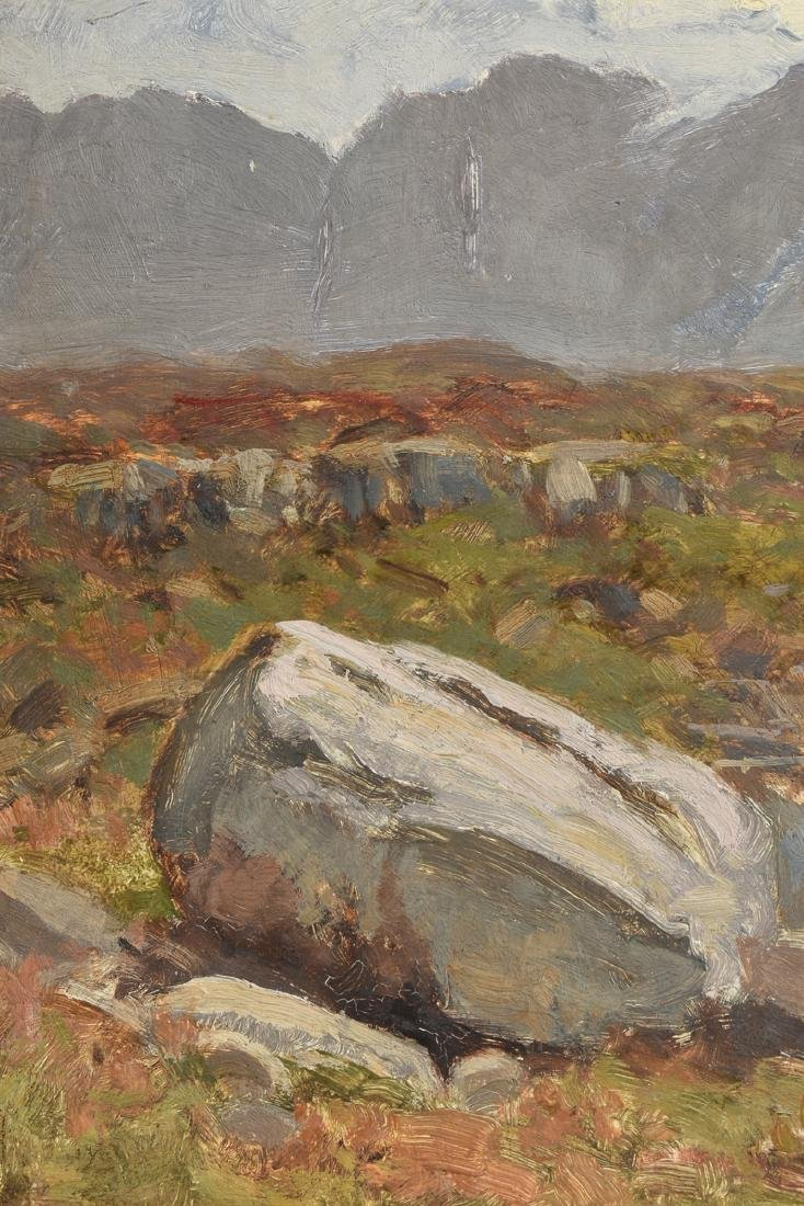 "JULIUS HINES ( ) A PAINTING ""Rocky Landscape,"" - 7"