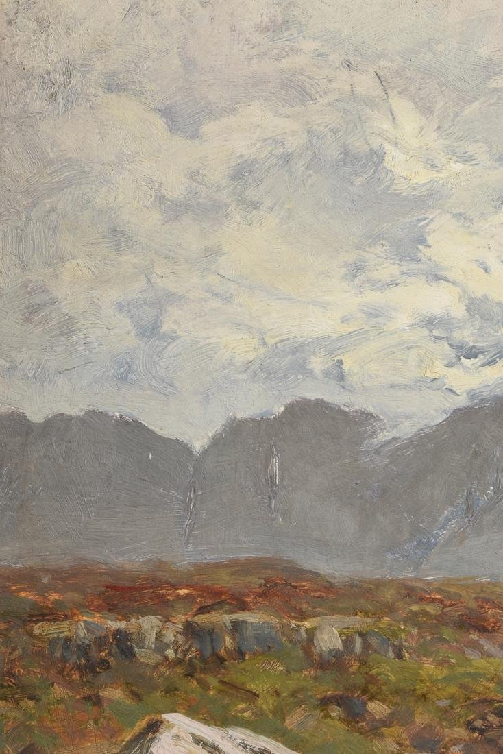 "JULIUS HINES ( ) A PAINTING ""Rocky Landscape,"" - 8"