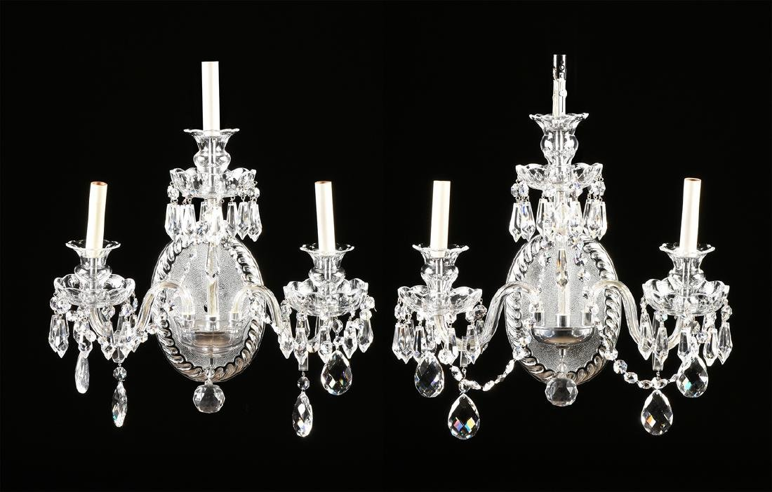 A PAIR OF VENETIAN STYLE THREE LIGHT SCONCES, MODERN,