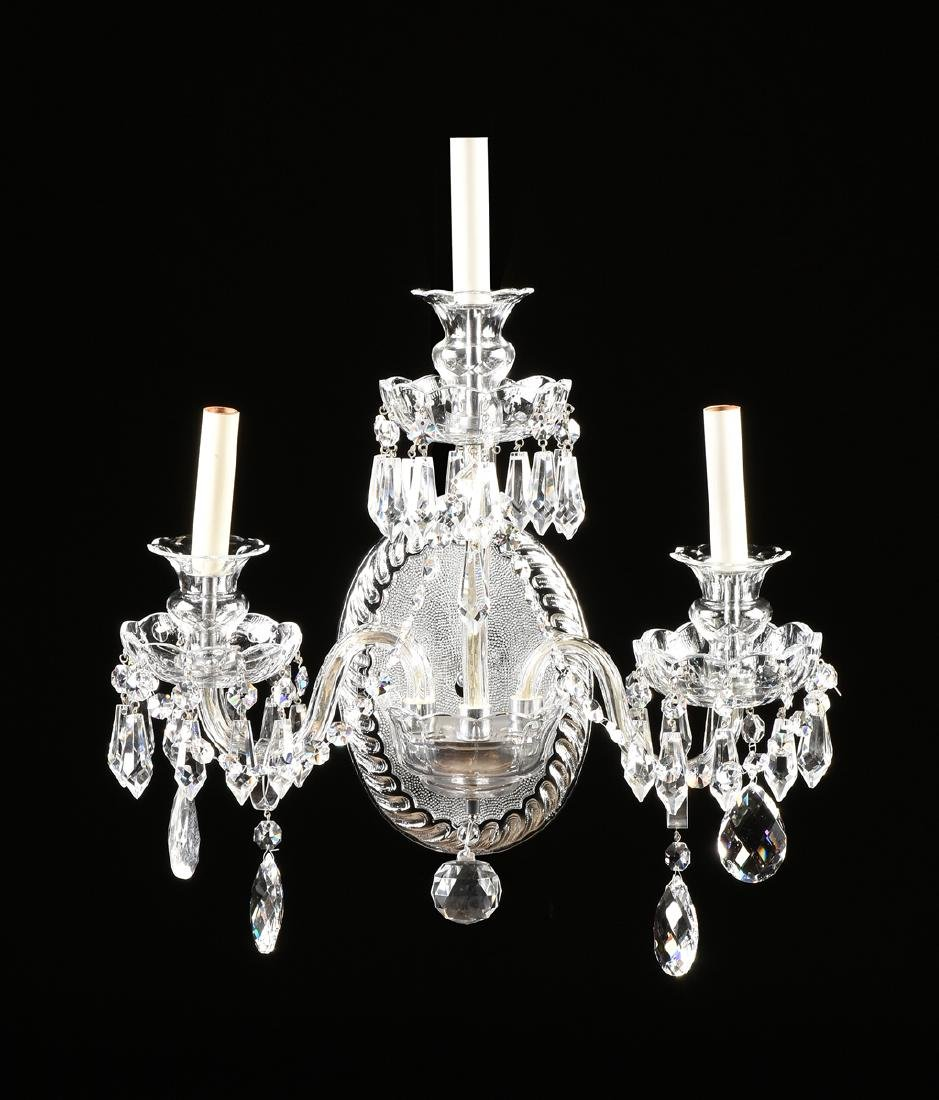 A PAIR OF VENETIAN STYLE THREE LIGHT SCONCES, MODERN, - 2