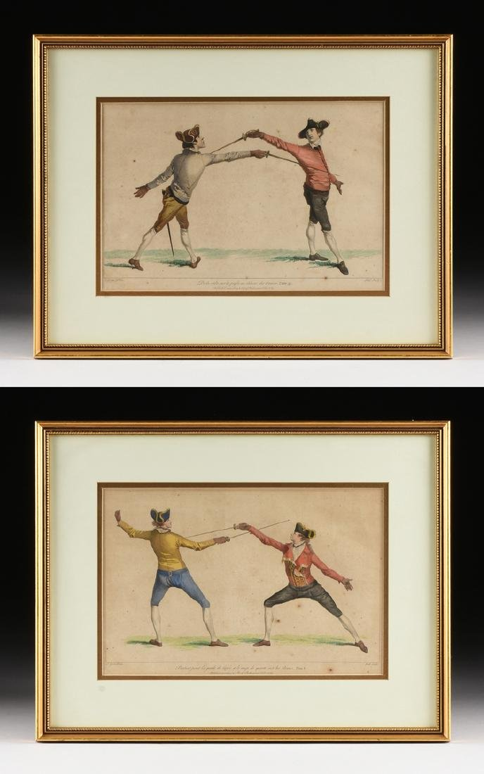 after JAMES GWIN (British 1700-1769) TWO HAND COLORED