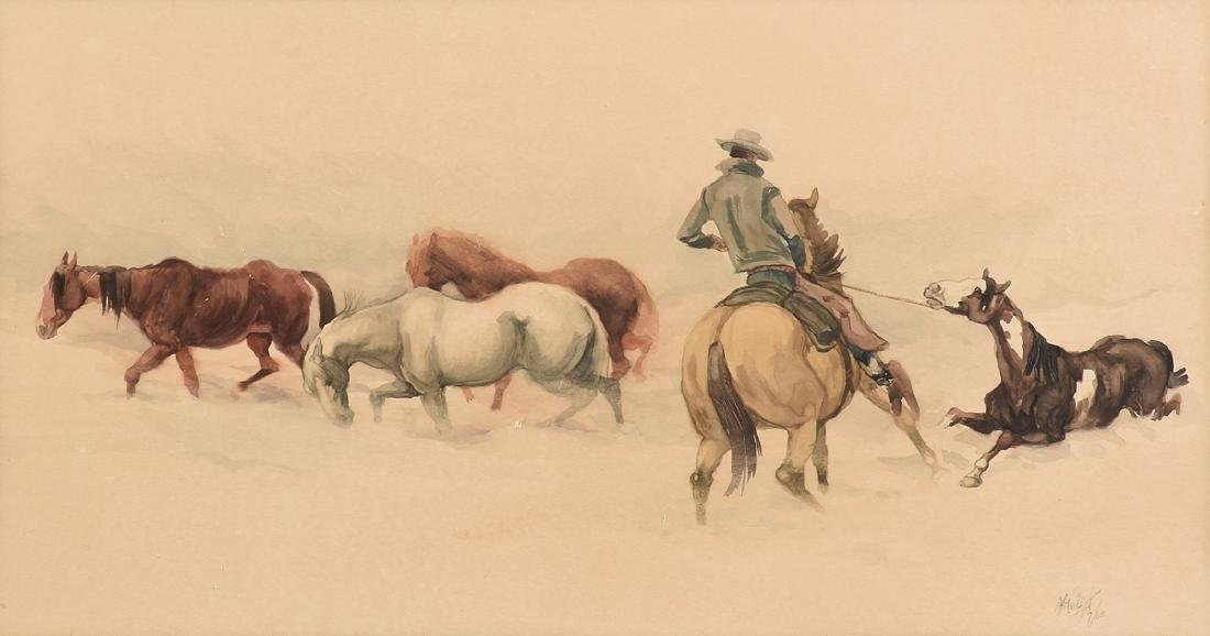 MC NEIL (American Western 20th Century) A PAINTING,