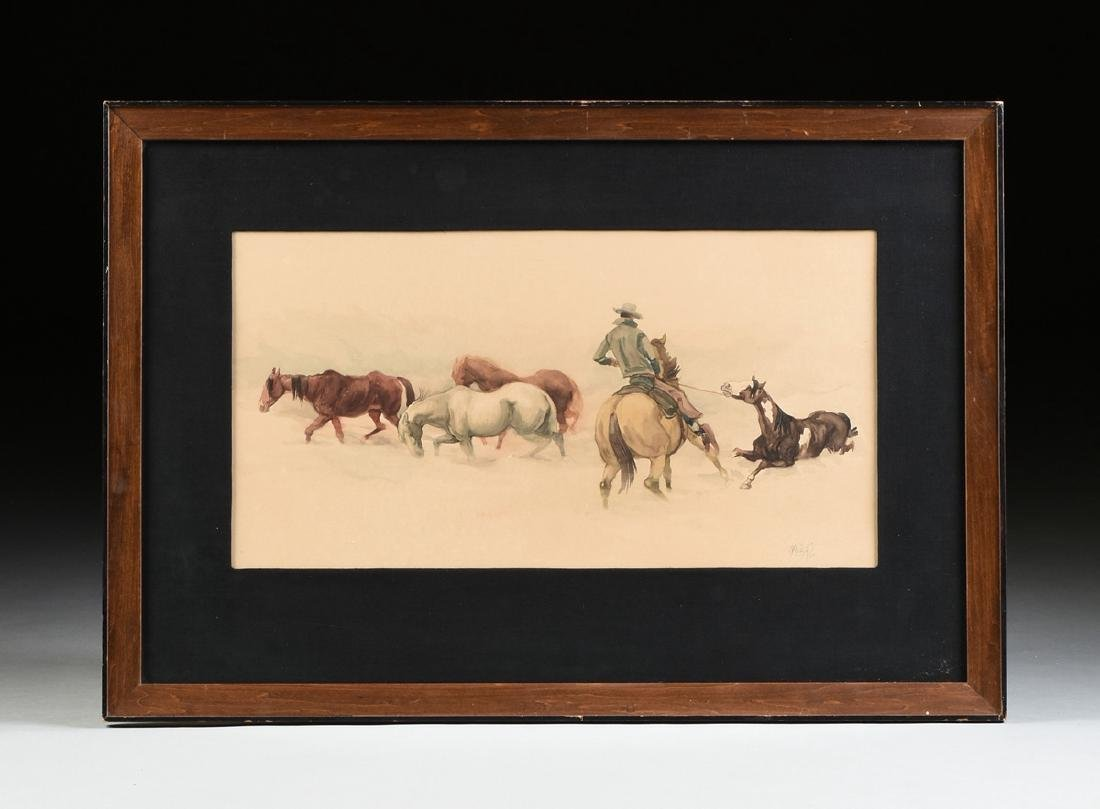 MC NEIL (American Western 20th Century) A PAINTING, - 2