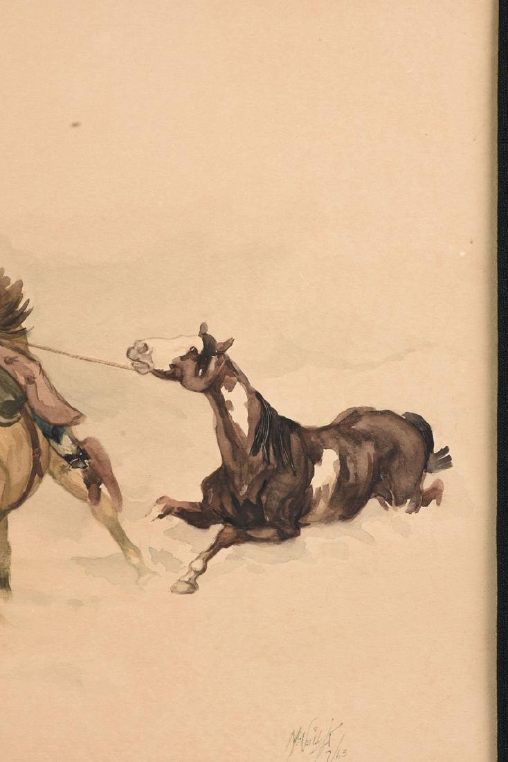 MC NEIL (American Western 20th Century) A PAINTING, - 4