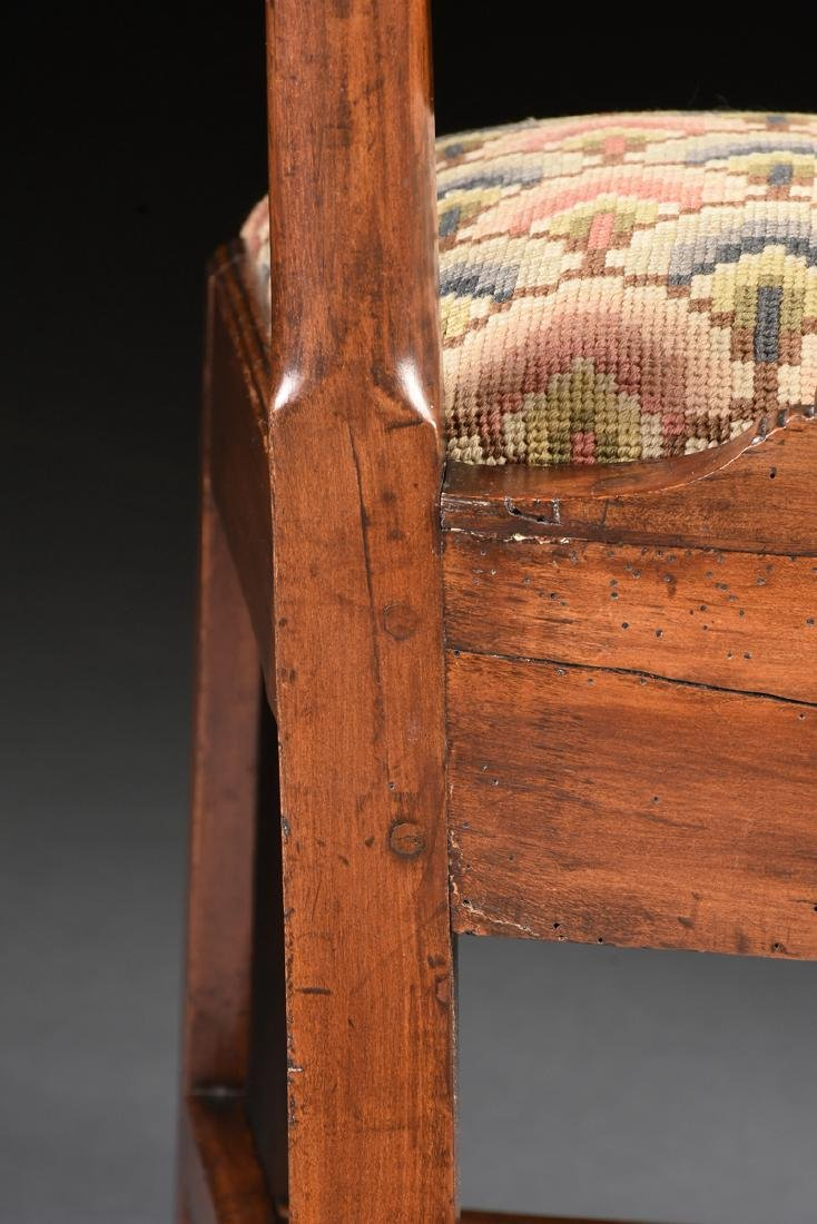 A COLONIAL GOTHIC CHIPPENDALE STYLE CARVED CHERRY SIDE - 10