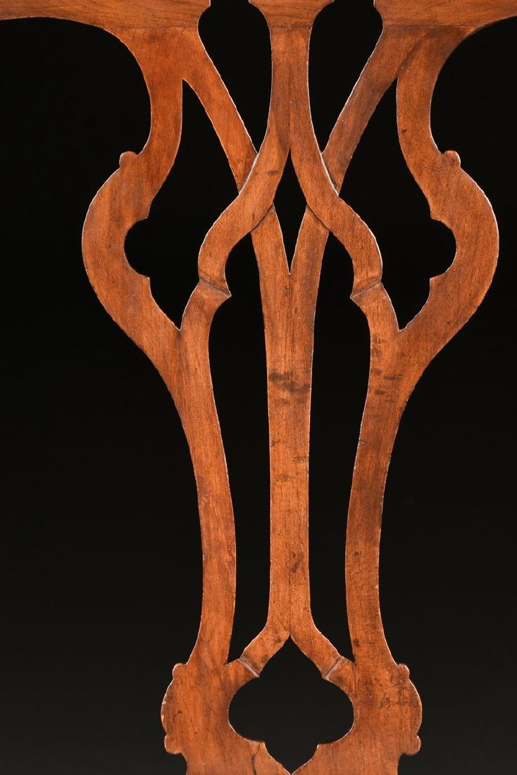 A COLONIAL GOTHIC CHIPPENDALE STYLE CARVED CHERRY SIDE - 4