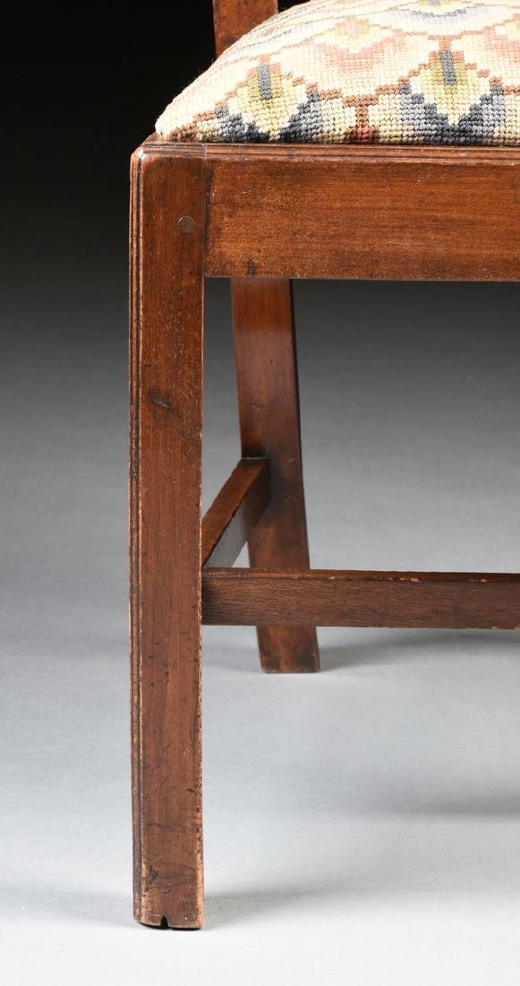 A COLONIAL GOTHIC CHIPPENDALE STYLE CARVED CHERRY SIDE - 5