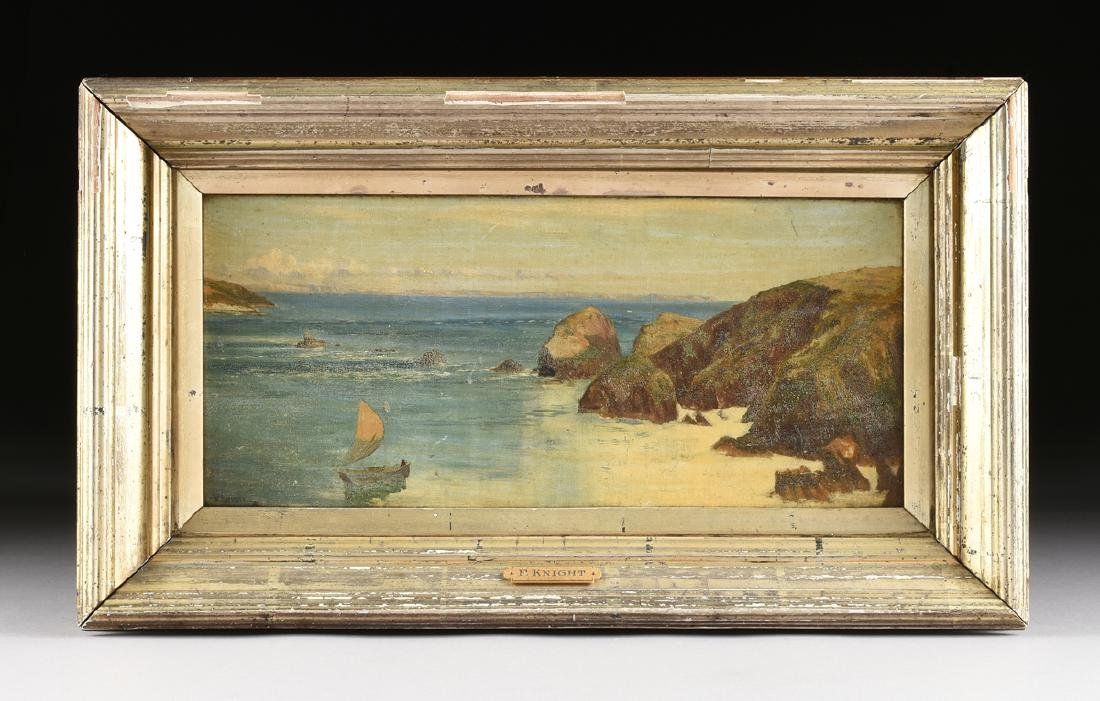 "F. KNIGHT, A PAINTING, ""Rocky Seascape,"" - 2"