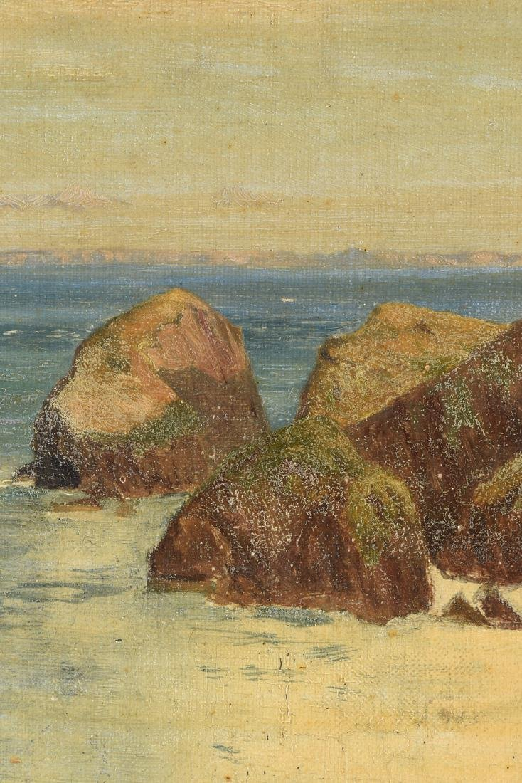 "F. KNIGHT, A PAINTING, ""Rocky Seascape,"" - 4"