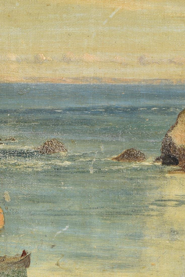 "F. KNIGHT, A PAINTING, ""Rocky Seascape,"" - 5"