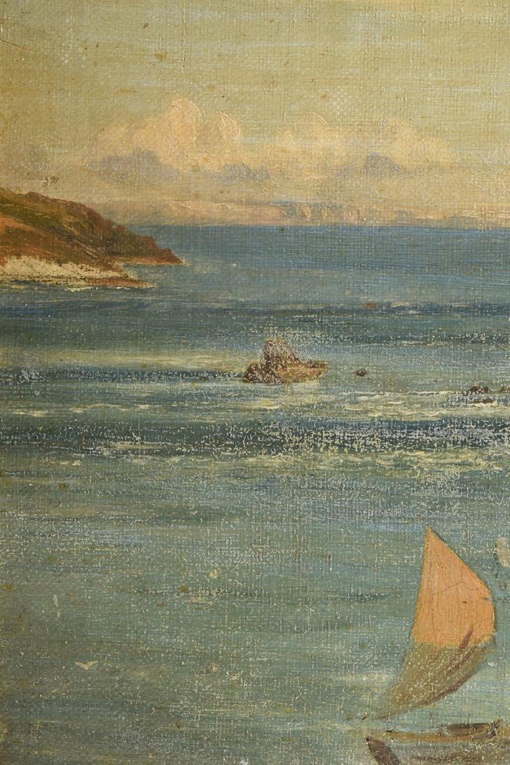 "F. KNIGHT, A PAINTING, ""Rocky Seascape,"" - 6"