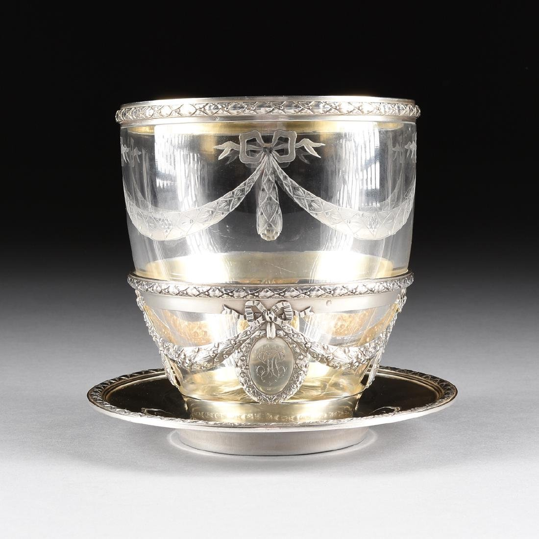 AN AUGUSTE LEROY & CIE 950 STANDARD SILVER AND ETCHED