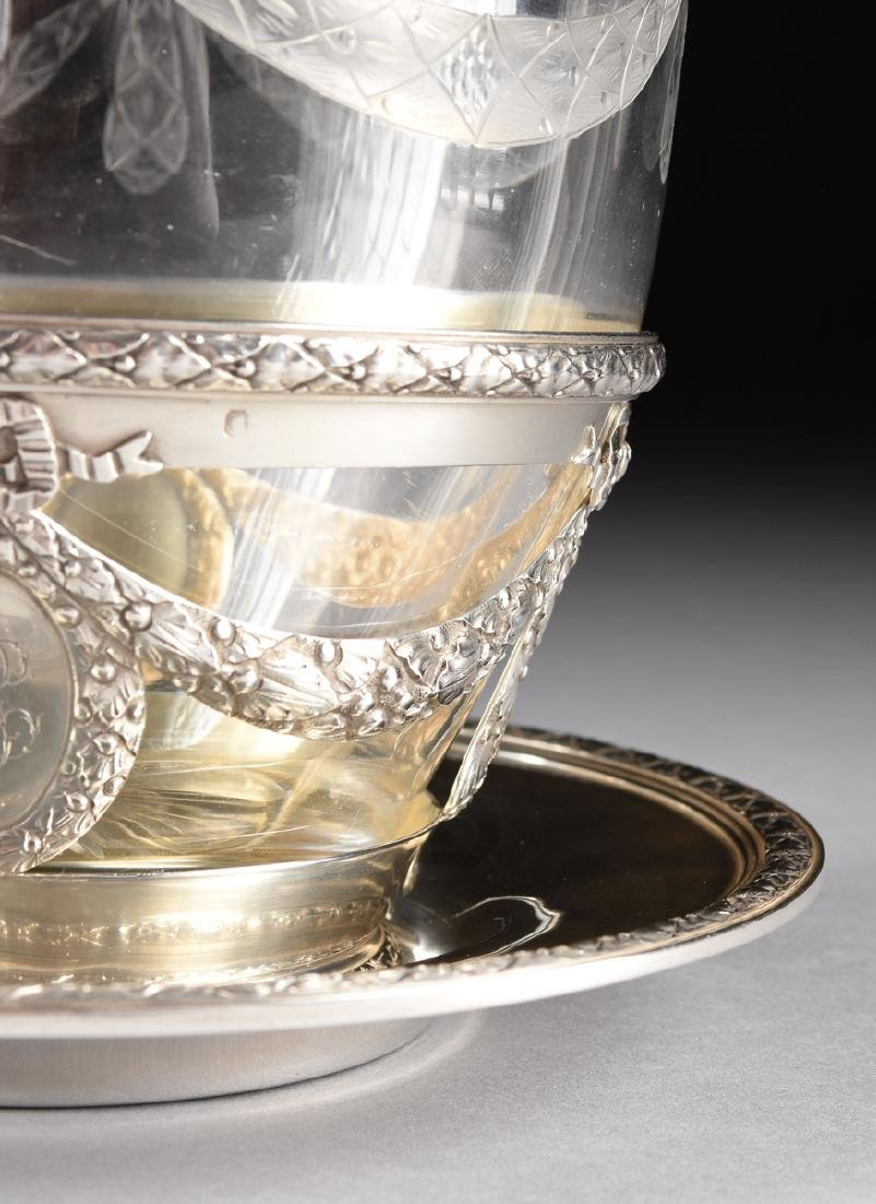 AN AUGUSTE LEROY & CIE 950 STANDARD SILVER AND ETCHED - 4