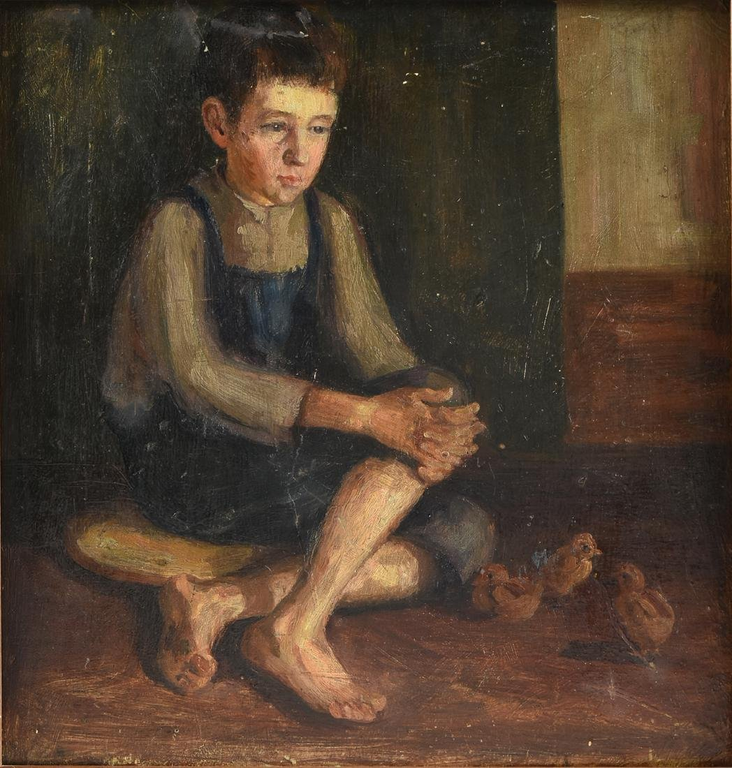 AN AMERICAN DEPRESSION ERA PAINTING, EARLY 20TH