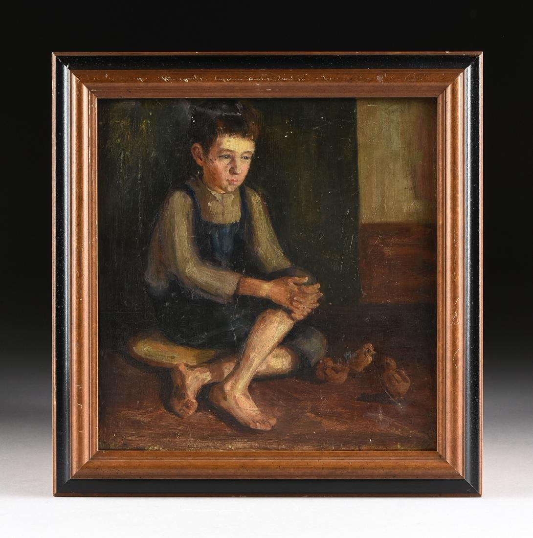 AN AMERICAN DEPRESSION ERA PAINTING, EARLY 20TH - 2