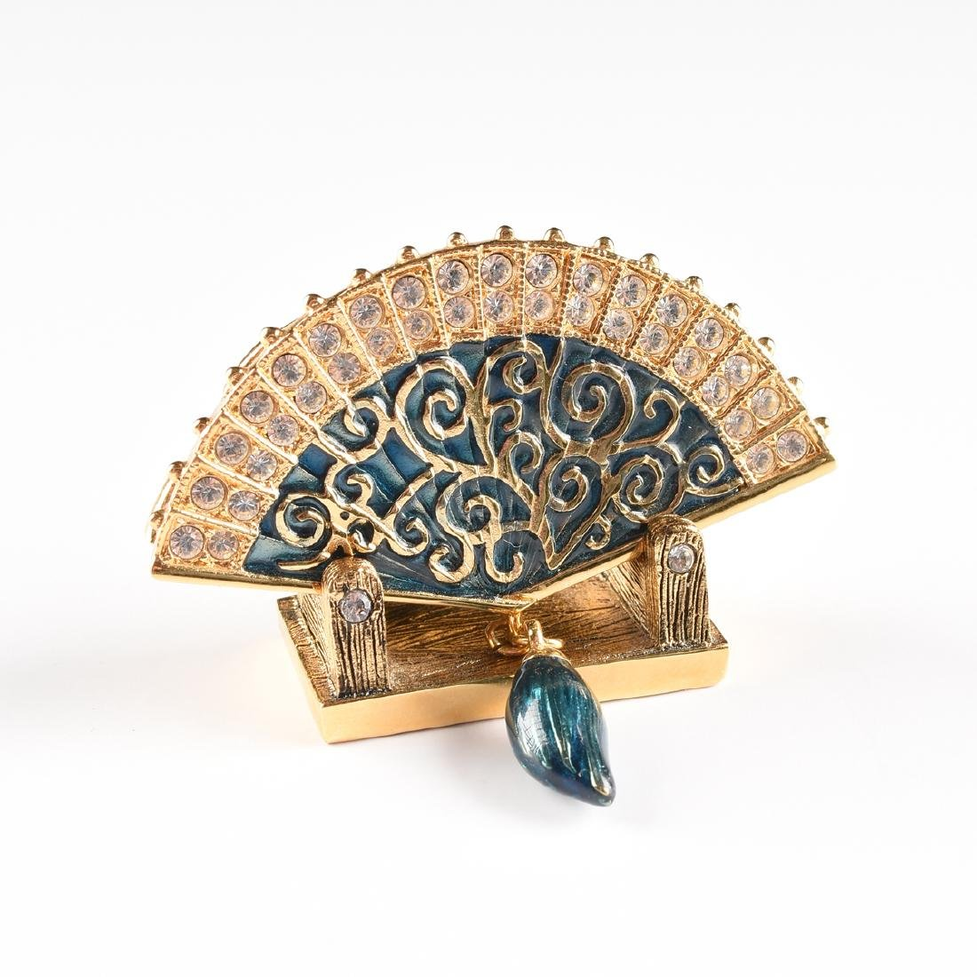 A GROUP OF JAY STRONGWATER GILT METAL AND ENAMEL - 10