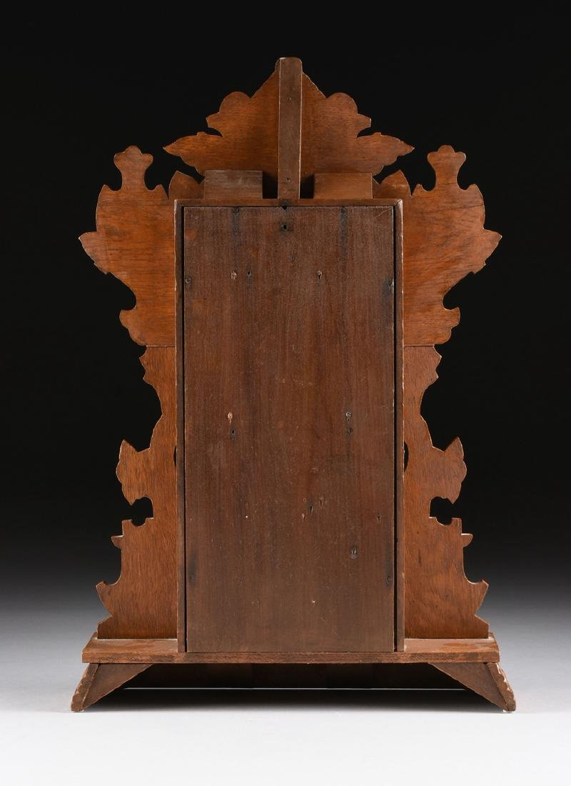 AN ANSONIA CLOCK COMPANY EIGHT DAY CARVED OAK MANTLE - 7