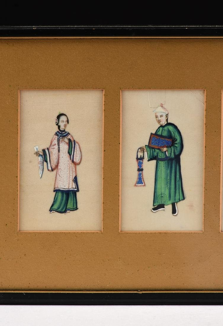 FOUR CHINESE FIGURES, A PAINTING, LATE 19TH/20TH - 2