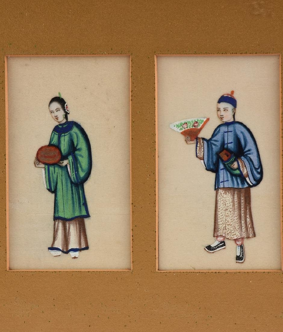 FOUR CHINESE FIGURES, A PAINTING, LATE 19TH/20TH - 3