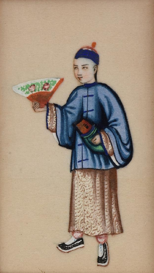 FOUR CHINESE FIGURES, A PAINTING, LATE 19TH/20TH - 4