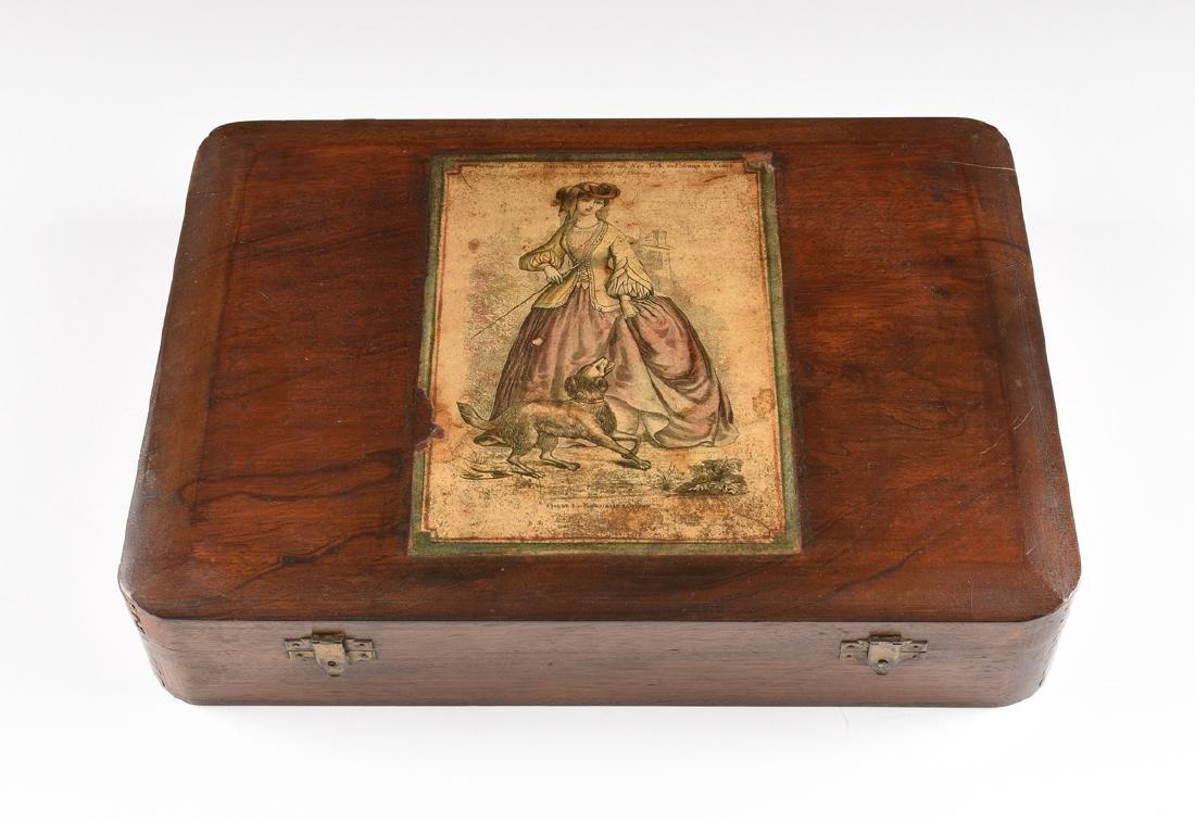 AN AMERICAN MAHOGANY BOX WITH HINGED LID, CIRCA 1900,