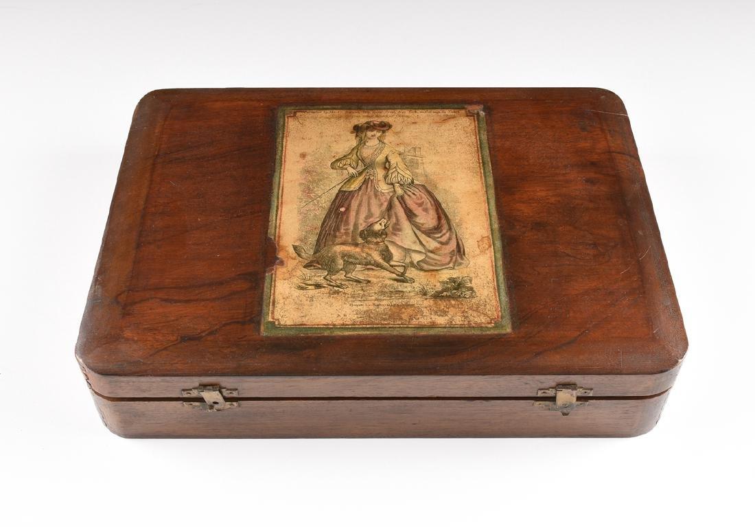 AN AMERICAN MAHOGANY BOX WITH HINGED LID, CIRCA 1900, - 2