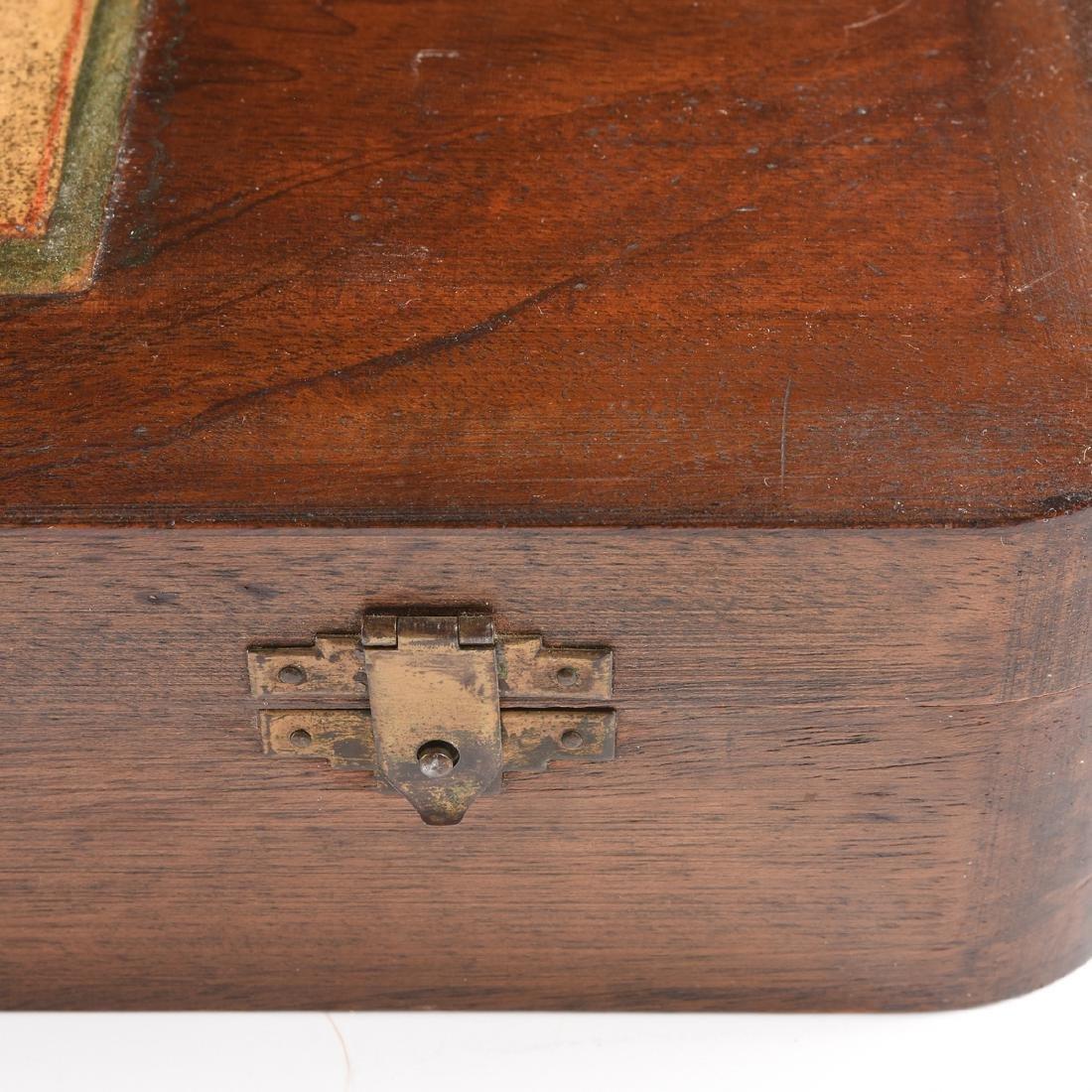 AN AMERICAN MAHOGANY BOX WITH HINGED LID, CIRCA 1900, - 4