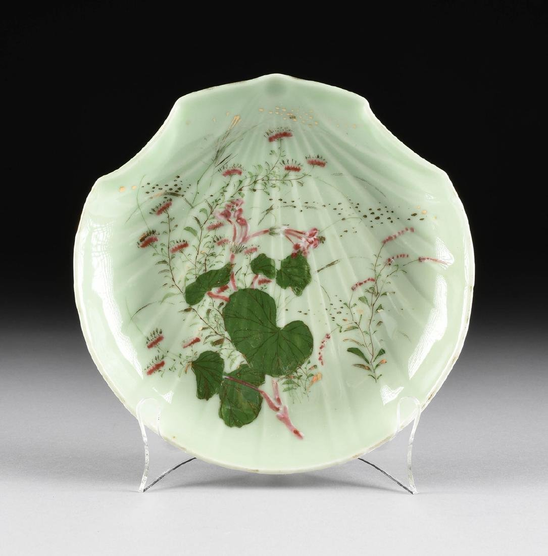 A PAIR OF CHINESE FAMILLE ROSE PAINTED CELADON GLAZED - 2