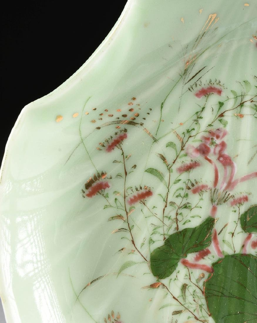 A PAIR OF CHINESE FAMILLE ROSE PAINTED CELADON GLAZED - 3